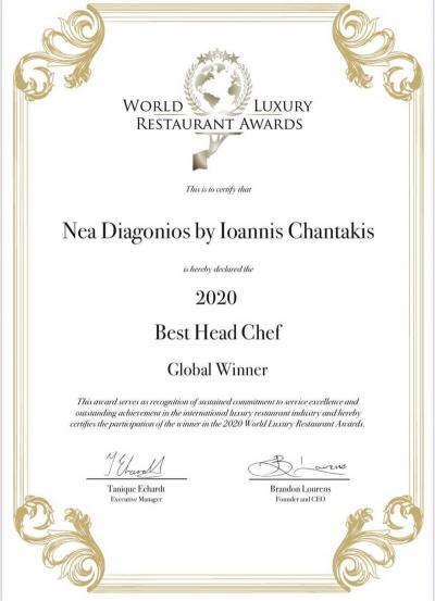 -World Luxury Restaurant Awards: Head Chef.